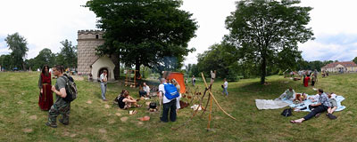 4th Archeological Picnic in Branice.  Click to view this panorama in new fullscreen window
