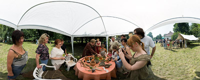 6th Archeological Picnic in Branice.  Click to view this panorama in new fullscreen window