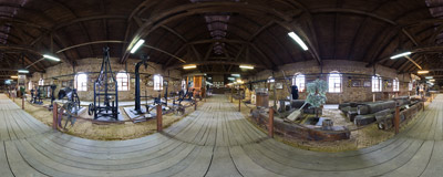 Inside the Salt Production Museum in Ciechocinek, Poland.  Click to view this panorama in new fullscreen window