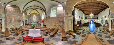Presbytery of the church of the Nativity of the Blessed Virgin Mary in Czchów.  Click to view this panorama in new fullscreen window