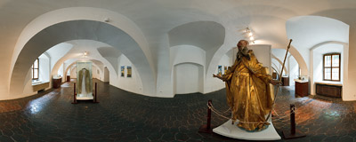 Červený kláštor ('The Red Monastery'): inside its old buildings there is a small museum.  Click to view this panorama in new fullscreen window