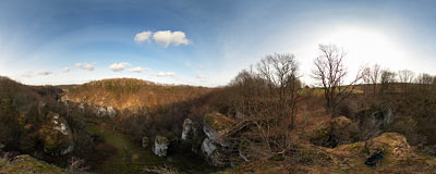 Mnikowska Valley: bird's eye view :-).  Click to view this panorama in new fullscreen window