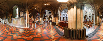 In the northern nave of St. Patrick's Cathedral in Dublin.  Click to view this panorama in new fullscreen window