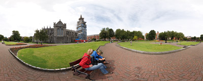 In a small park near St. Patrick's Cathedral in Dublin.  Click to view this panorama in new fullscreen window