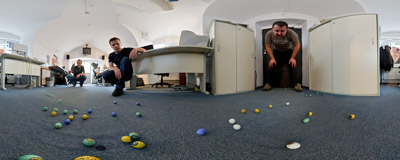 "Cool kulki - ""Cool balls"".  Click to view this panorama in new fullscreen window"
