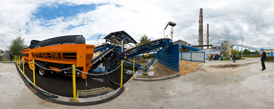 EC Kraków CHP plant - biomass fuel installation.  Click to view this panorama in new fullscreen window
