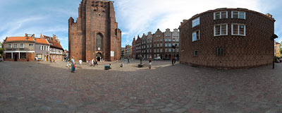 Gdańsk - by the St. Mary's church.  Click to view this panorama in new fullscreen window