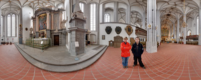 Inside the church of St. Peter and St. Paul in Görlitz (Germany).  Click to view this panorama in new fullscreen window