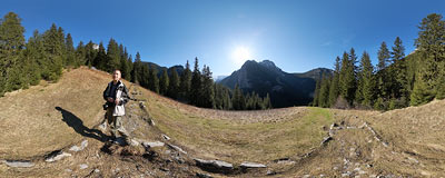 Hala Pisana in the Tatra Mountains.  Click to view this panorama in new fullscreen window