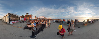 Holiday concert in the seaside resort of Hel.  Click to view this panorama in new fullscreen window