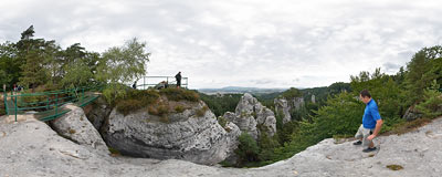 Hruboskalsko in Bohemian Paradise - U Lvíčka panoramic viewpoint.  Click to view this panorama in new fullscreen window