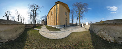 St. Benedict's church in Imbramowice.  Click to view this panorama in new fullscreen window