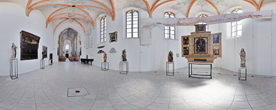 Gallery of Silesian Sacred Art in the former Bernardine church in Jawor.  Click to view this panorama in new fullscreen window