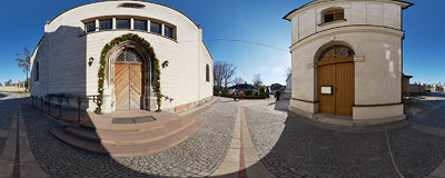 Holy Trinity church in Jędrzejów.  Click to view this panorama in new fullscreen window