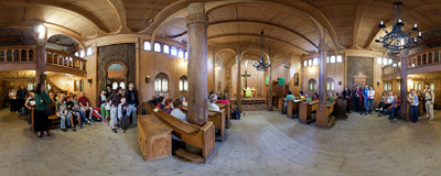 Inside the Vang stave church in Karpacz, Southwest Poland.  Click to view this panorama in new fullscreen window