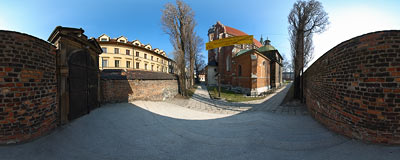 Kraków - Corpus Christi church.  Click to view this panorama in new fullscreen window