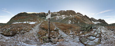 Dolinka Kozia, Polish Tatra Mountains.  Click to view this panorama in new fullscreen window