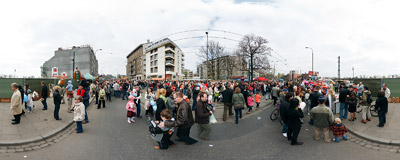 Traditional Emaus fair, held on every Easter Monday in Kraków-Salwator.  Click to view this panorama in new fullscreen window