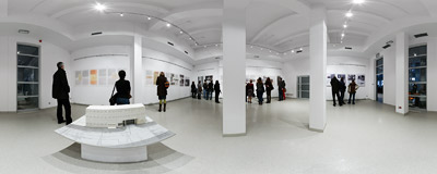A temporary exhibition in the former Schindler Factory in Kraków-Zabłocie.  Click to view this panorama in new fullscreen window