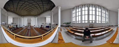 St. Albert's church in Kraków.  Click to view this panorama in new fullscreen window