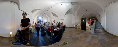 The Tomb of the Lord in the crypt of the Piarist church in Kraków (see the same location in 2008,  2009 and 2010).  Click to view this panorama in new fullscreen window