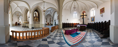 Holy Saturday in St. Joseph's church in Kraków-Podgórze.  Click to view this panorama in new fullscreen window