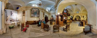 The Tomb of the Lord in the church of St. Nicholas in Kraków.  Click to view this panorama in new fullscreen window