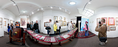 5th Night of Museums in the Photography History Museum in Kraków.  Click to view this panorama in new fullscreen window