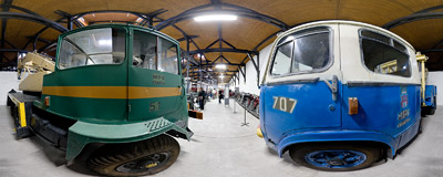Exhibition in the City Engineering Museum in Kraków.  Click to view this panorama in new fullscreen window