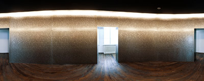 """The Ark of the Saved"": an installation in the former office of Oskar Schindler in his factory in Kraków-Zabłocie.  Click to view this panorama in new fullscreen window"