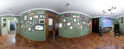 "A 1930s photographer's office reconstructed as the first room of the ""Kraków under Nazi Occupation 1939-1945"" exhibition in the former Schindler's factory in Kraków-Zabłocie.  Click to view this panorama in new fullscreen window"