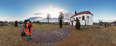 St. Walenty's church in Krempachy.  Click to view this panorama in new fullscreen window