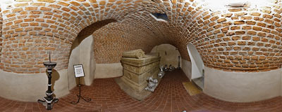 Count Bieliński's crypt in the St. Peter and St. Paul's Church in Kraków.  Click to view this panorama in new fullscreen window