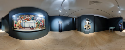 An exhibition in the Gallery of Central Bohemia (Galerie Středočeského kraje) in the former Jesuit College in Kutná Hora.  Click to view this panorama in new fullscreen window