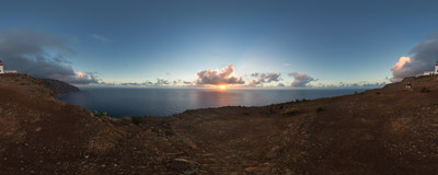 Watching the sunset at Ponta do Pargo, the westernmost point of the Madeira island.  Click to view this panorama in new fullscreen window
