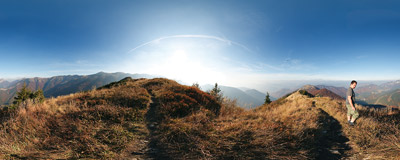 Malá Fatra - on Kraviarske hill.  Click to view this panorama in new fullscreen window