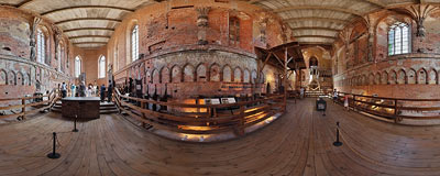 Malbork castle - inside the church.  Click to view this panorama in new fullscreen window