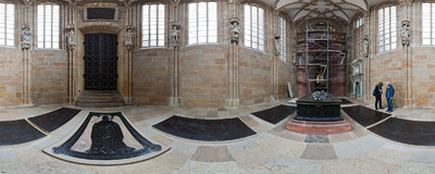 Fürstenkapelle (Princes' Chapel) in the Meissen Cathedral.  Click to view this panorama in new fullscreen window