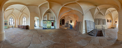 The so-called Old Sacristy of the Meissen Cathedral, Germany.  Click to view this panorama in new fullscreen window