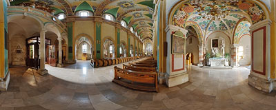 Church of St. Wenceslas in the Cistercian abbey in Mogiła.  Click to view this panorama in new fullscreen window