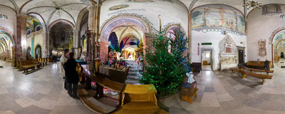 Nativity scene in the church of St. Wenceslas in the Cistercian abbey in Mogiła.  Click to view this panorama in new fullscreen window