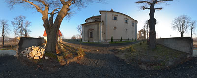 St. Bartholomew's church in Morawica.  Click to view this panorama in new fullscreen window