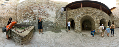 Niedzica castle.  Click to view this panorama in new fullscreen window