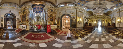 14th century church in Niepołomice near Kraków.  Click to view this panorama in new fullscreen window