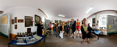 Exhibition in a coal mine in Nowa Ruda.  Click to view this panorama in new fullscreen window
