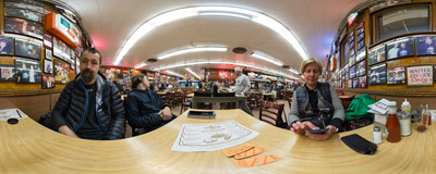 After a dinner at the famous Katz's Delicatessen in New York City.  Click to view this panorama in new fullscreen window