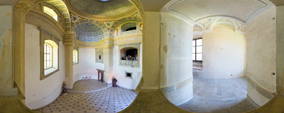 The chapel of the Lubomirski family castle in Nowy Wiśnicz.  Click to view this panorama in new fullscreen window