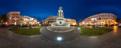 The monument of the Russian empress Catherine II the Great in Odessa, Ukraine.  Click to view this panorama in new fullscreen window