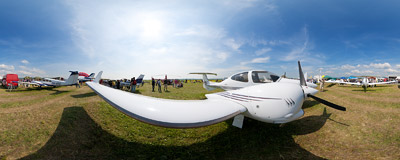 You could touch some planes during the annual Národné Letecké Dni air show in Piešťany, Slovakia.  Click to view this panorama in new fullscreen window