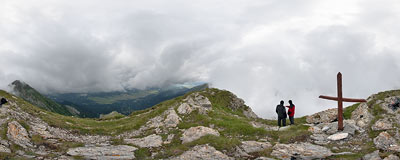In the clouds in Belianske Tatry.  Click to view this panorama in new fullscreen window
